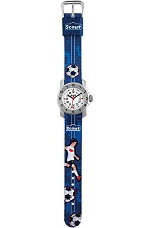 Scout Pojke Armband - Pojkar analog kvartsklocka med tyg armband 280376004