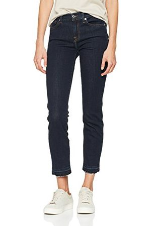 Seven for all Mankind Dam Mid Rise Roxanne Crop Unrolled Slim Jeans