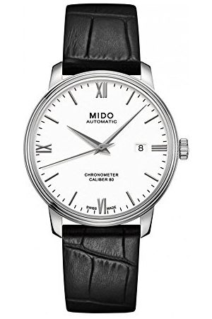 MIDO Herr analog automatisk klocka med läderarmband M0274081601800