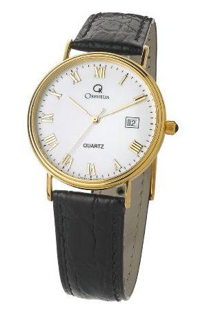 ORPHELIA Herr analog kvartsklocka med läderrem MON-7081