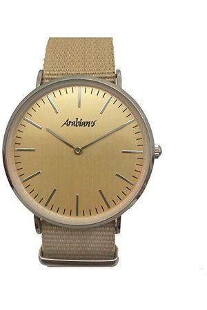 ARABIANS Analoga kvartsklocka för män med textilrem HBA2228B