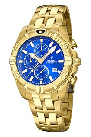 Festina Unisex vuxna kronograf kvarts smartklocka armbandsur med Paqué eller armband F20356/2