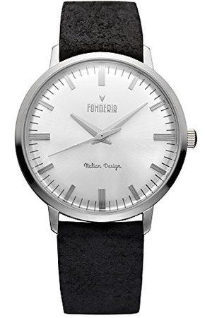 Fonderia Herr analog kvarts smartklocka armbandsur med läderarmband P-6A003US3