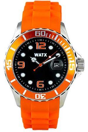 Watx Analog kvartsklocka med gummiband RWA9022