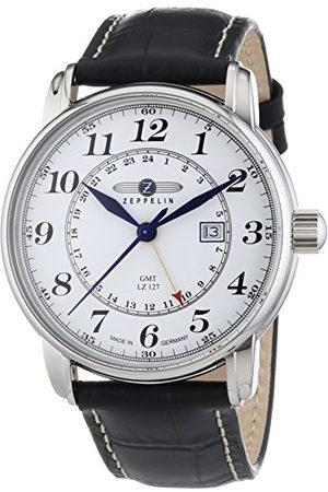 Zeppelin Andra gången zon GMT läderremsklocka med datumfunktion