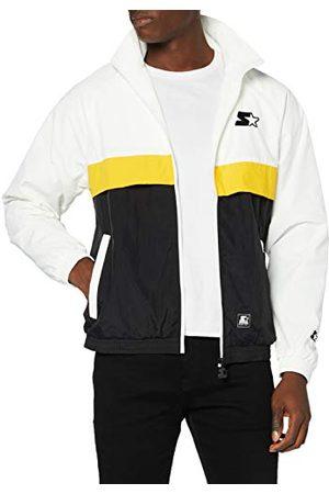 STARTER BLACK LABEL Herr color-blockdesign med färgbetonade sidofickor uppvärmningsjacka, skydd på fram- och baksidan, elastiska manschetter på ärmar och fåll