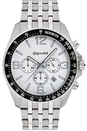 Gigandet Herrarmbandsur kronograf kvarts analog med rostfritt stål armband Fast Track G12-001