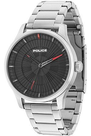 Police Polis herr analog kvartsklocka med rostfritt stål 15038JS/02M
