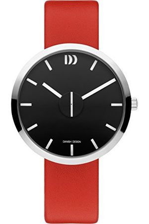Danish Design Dansk design unisex vuxna analog kvartsklocka med läderarmband IQ24Q1198