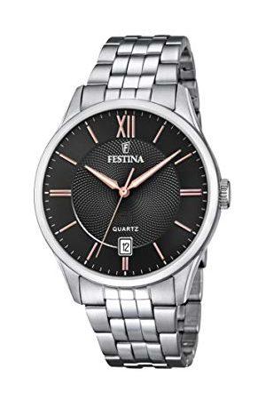 Festina Herr analog kvartsklocka med rostfritt stål armband F20425/6