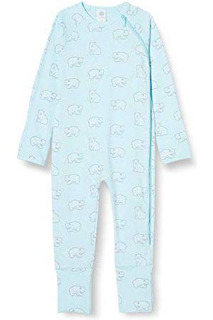 Sanetta Baby-pojkar ny ängel varm overall ljusblå med en söt isbjörn overall