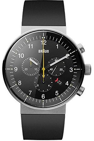 von Braun Herr analog kvartsklocka med gummi armband BN0095BKSLBKG