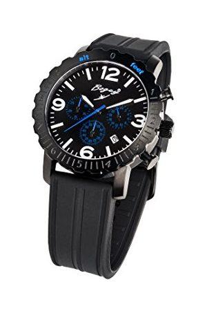 BOGEY Herr kronograf kvartsklocka med gummiarmband BSFS003BLBK