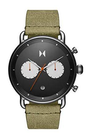 MVMT Herr analog kvartsklocka med kalvläder armband 28000007-D