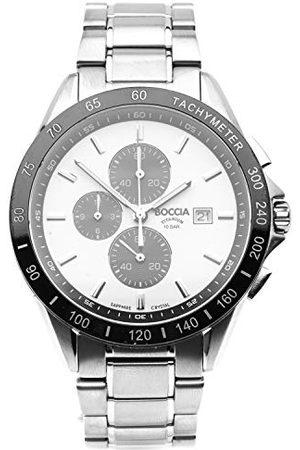 Boccia Herr kronograf kvartsklocka med titanrem 3751-03