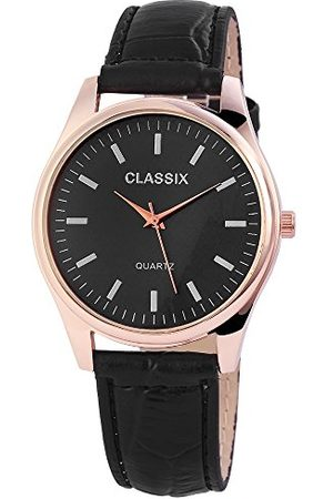 CLASSIX Classic herr analog kvartsklocka med läderarmband RP4783100012