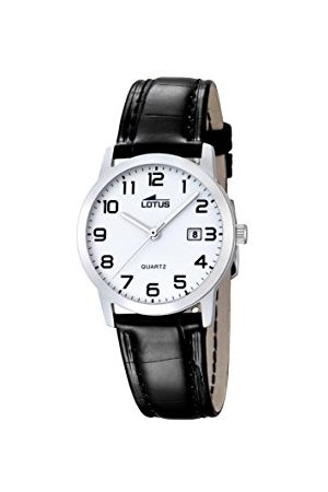 Lotus Dam analog kvarts klocka med äkta läderarmband 18240/1