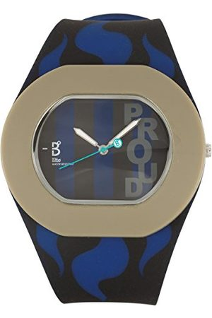 B360 B360 klocka unisex armbandsklocka B PROUD large, 3 barer analog kvarts silikon inuti Milan