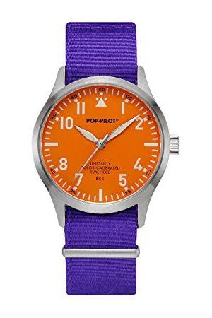 Pop-Pilot Unisex-armbandsur BKK analog kvarts nylon P4260362630024