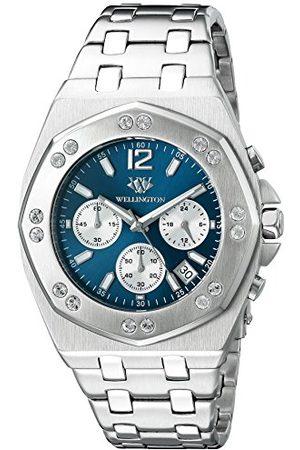 Daniel Wellington Darfield kvartsklocka för män med urtavla kronograf display och rostfritt stål armband WN511-131