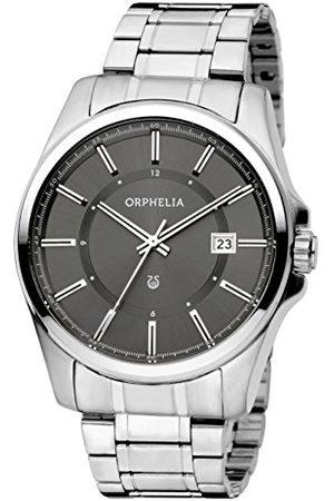ORPHELIA Centrum kvartsur för män med urtavla analog display och silverarmband i rostfritt stål Armband /