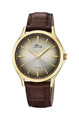 Lotus Lotus klockor herr analog klassisk kvartsklocka med läderrem 18517/2