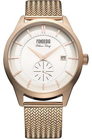 Fonderia Herr analog kvarts smartklocka armbandsur med rostfritt stål armband P-8R009US1