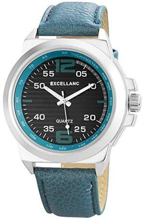 Excellanc Kvartsklocka för män 295021000168 med läderrem