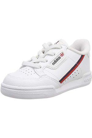 adidas Läragåskor - Unisex Baby Continental 80 I sneakers, Vita skor vita scharlakans-collegiate marinblå 0-25 EU