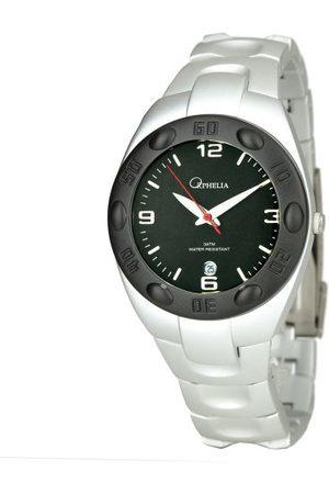 ORPHELIA 123-7600-48 analog kvartsklocka för män med urtavla, datumindikator och aluminiumarmband