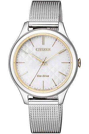 Citizen Analog kvarts klocka med rostfritt stål armband EM0504-81A