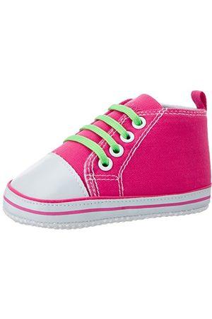 Playshoes Baby-flicka kanvas träningsskor kängor-& tofflor, rosa17 EU