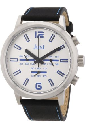 Just Watches Unisex-armbandsur analog läder 48-S3601-BL