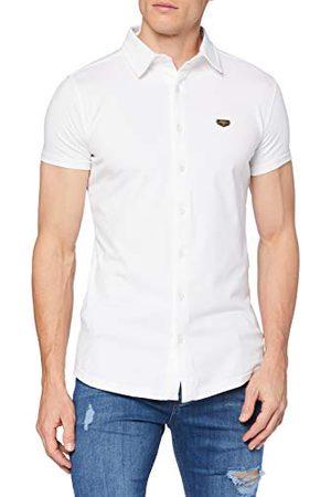 Gianni Kavanagh Herr White Core Short Sleeve Shirt skjorta med Button-Down-krage