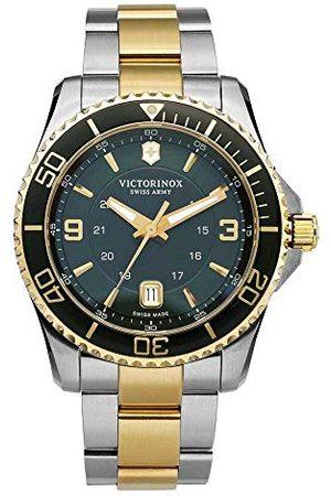 Victorinox Swiss Army 241605 kvartsur analog klocka för män med lysande händer och armband i rostfritt stål