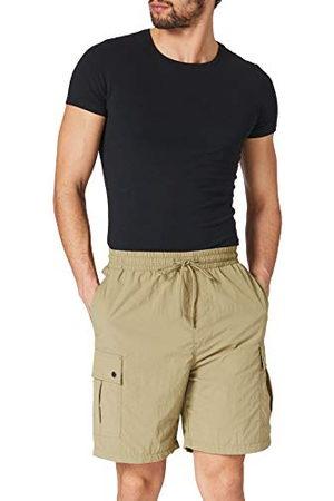 Urban classics Herr shorts nylon cargo shorts cargos, korta byxor för män med fastsydda fickor i 2 färger, storlekar S – 5XL