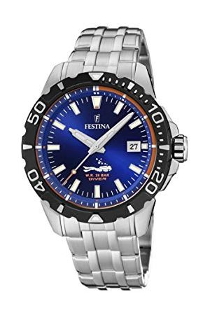 Festina Unisex vuxna analog kvartsklocka med rostfritt stål armband F20461/1