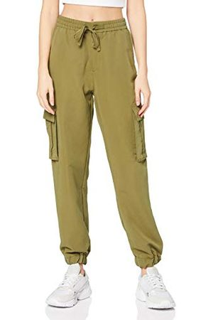 Urban classics Damer Ladies viscos twill Cargo Pants klassiska byxor