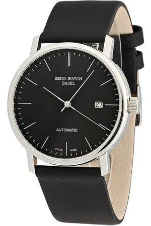 Zeno Mäns automatiska klocka Bauhaus 3644-i1 med läderrem