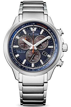 Citizen Herr kronograf eko-drivklocka med titanrem AT2470-85L