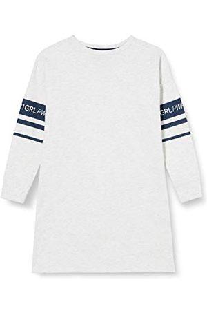 Sanetta Flicka sovtröja Ecru Melange lång sömn-skjorta aktuell Athleisure serie sportig graumellång