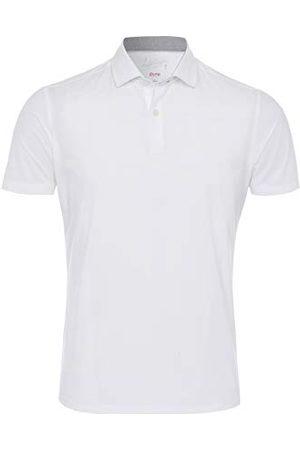 Pure Herr 3392-92930 funktionell poloknapp smal passform halbarm poloskjorta, uni medblå, XL