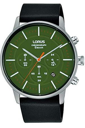 Lorus Fashion herrklocka kronograf rostfritt stål med läderband RT309JX9