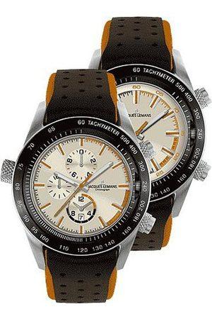 Jacques Lemans Gents Klocka Turnable Dualtime kronograf 1-1515 D
