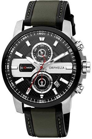 ORPHELIA X-plan kvartsklocka för män med urtavla analog display och läderrem rem Multicolour/Multicolour