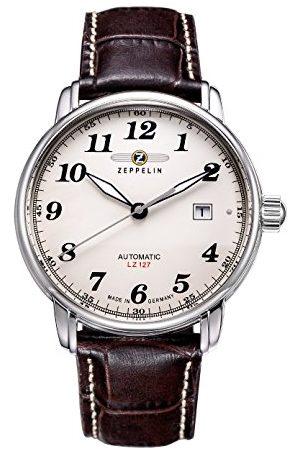 Zeppelin Herr analog automatisk klocka med läderrem – 76565