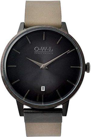O.W.L Analog japansk kvartsklocka för män med rostfritt stålrem W6SBS