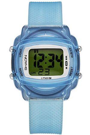 Shaon Herr digital kvarts klocka med plastarmband 39–6067–99