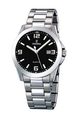 Festina Herrar analog kvarts klocka med rostfritt stål armband F16376/4