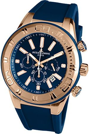 Jacques Lemans Herr kronograf kvarts smart klocka armbandsur med silikonarmband 1–1820 g
